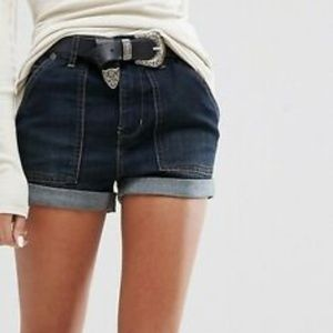 Free People Lily High Rise Jean Cuffed Shorts 29